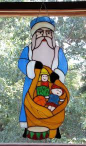 54 best stained glass santa u0027s images on pinterest stained glass
