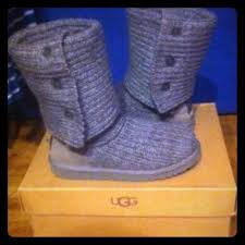 s cardy ugg boots grey ugg s cardy knit boots grey national sheriffs