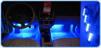 Car Interior Blue Lights Aliexpress Com Buy 4x 3 Led Blue Car Auto Charge Interior Light