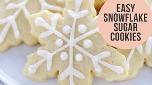 snowflake sugar cookies how to make easy snowflake sugar cookies