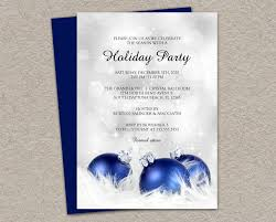 elegant holiday party invitations diy printable blue and