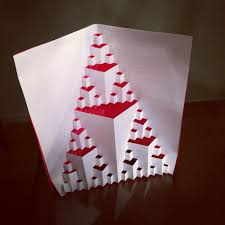 wonderful how to make a fractal card part 5 origami sculptures