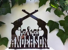 country rustic western pistol custom personalized wedding