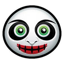 halloween face emoji sticker by lam vu