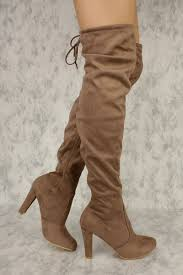 s boots taupe taupe slim tassel tie toe the knee chunky heel boots
