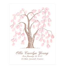 baby shower tree thumbprint tree flyoung studio