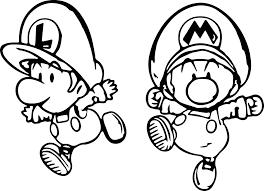 super mario and luigi mini child coloring page wecoloringpage