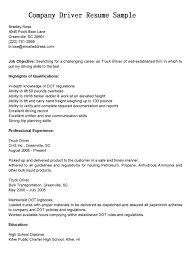 Truck Resume Cdl Driver Resume Sample Job And Resume Template