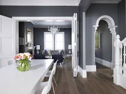 love the combination of the grey white wooden floors u0026 navy greg