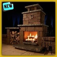 Patio Fireplace Kit by Outdoor Fireplace Kits Build Chiminea Stone Brick Wood Burning