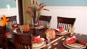 autumn table setting ideas fall table decorations youtube
