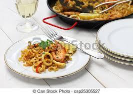 cuisine pates pâtes cuisine paella espagnol cuisine fruits mer de