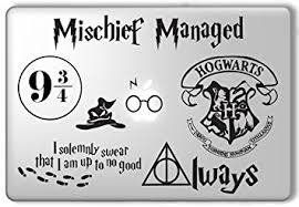 hogwarts alumni decal harry potter decal set apple macbook laptop vinyl sticker decal