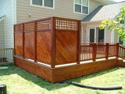 backyard deck privacy ideas home outdoor decoration