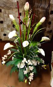Calla Lily Home Decor White Calla Lily And Orchid Arrangement Designed By Arcadia Floral