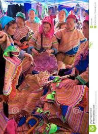 Hmong Map Flower Hmong Minority People Vietnam Editorial Image Image 25477565
