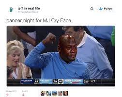 North Carolina Meme - the funniest jordan cry face memes from the ncaa chionship bossip
