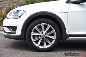 volkswagen golf wheels 2016 volkswagen golf alltrack review video performancedrive