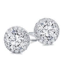 diamond earing halo diamond earring setting e5197