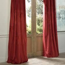 signature burgundy blackout velvet pole pocket single panel