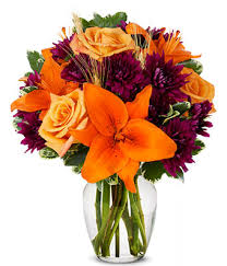 fall flower arrangements orange purple blooms at from you flowers