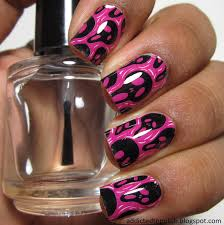 addicted to polish omg nail strips pink scream