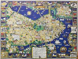 Old Boston Map by The Colour Of An Old City A Map Of Boston Decorative And