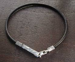 leather with silver bracelet images Men 39 s silver bracelets british made love2have in the uk jpg