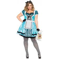 looking glass alice in wonderland plus size halloween costume