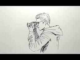 tutorial menggambar orang dengan pensil cara menggambar orang lagi menfoto youtube