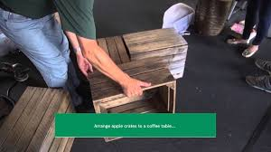 how to convert apple crates into a coffee table youtube