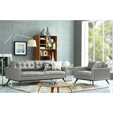 Tufted Modern Sofa by Tov Furniture Tov S57 Blake Antique Grey Tufted Eco Leather Sofa W