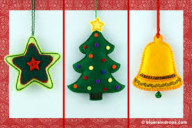 felt christmas ornaments felt christmas ornaments blueraindrops craft ideas