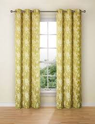 Floral Jacquard Curtains A Stunning 100 Cotton Mustard Coloured Floral Patterned Curtain