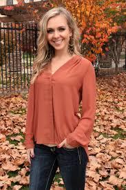 auburn skies blouse reddish brown small small and fall season