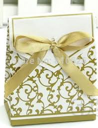 wedding cake gift boxes gold ribbon gift paper bags engagement anniversary wedding party