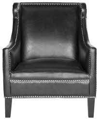 Black Leather Accent Chair Mcr4735a Accent Chairs Furniture By Safavieh