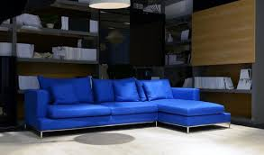 Sectional Sofa Blue Design Of Blue Leather Sectional Sofa Donato Modern Leather
