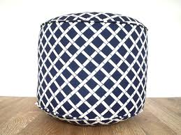 fabric outdoor pouf ottoman home designing innovative outdoor