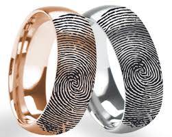how to engrave a ring about fingerprint ring engraving larsonjewelers