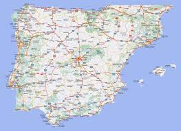 Spain Maps by Large Detailed Highways Map Of Spain And Portugal With Cities