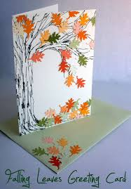 falling leaves greeting card falling leaves serenity and leaves