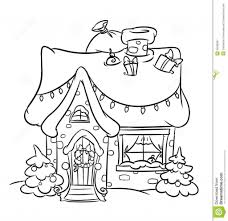 christmas house coloring pages aecost net aecost net