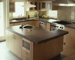 honed granite countertops stainless steel utensil hanging bar