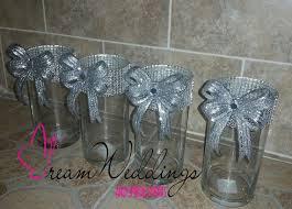 silver centerpieces rhinestone vasewedding centerpiecescylinder vases