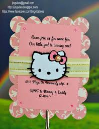 Invitation Card Hello Kitty Jingvitations Hello Kitty For Baby Shower Birth Announcement Or