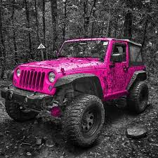 jeep lifted pink pink jeep wrangler can t lie if were a two door i d want it