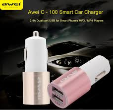 Car Charger With Usb Ports Awei C100 Dual Usb Ports Car Charger