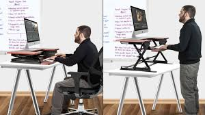 Standing To Sitting Desk Turn Any Desk Into A Standing Desk For 150