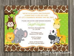 safari baby shower invitations marialonghi
